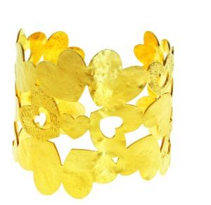 1512613_Bracciale rigido in metallo dorato