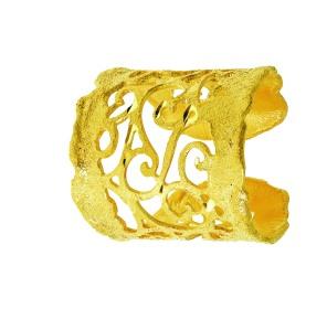 1602879 Anello in bronzo dorato