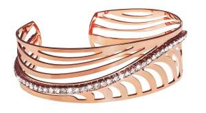 1602935 Bracciale in metallo rosato e cristalli