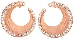 1603639 Orecchini pendenti in metallo rosato e cristalli
