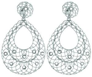 1604446_Orecchini pendenti in argento rodiato e cristalli