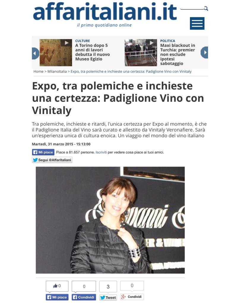 Articolo krystel lowell Affari italiani 15.03.15